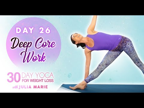 yoga for weight loss agility flow ♥ essential core  abs